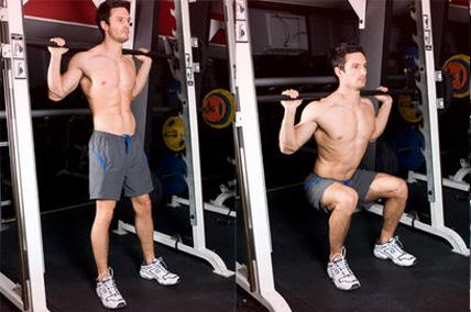squat entrainement débutant
