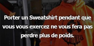 porter sweatshirt pendant musculation